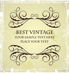 vintage grunge template vector image