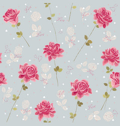Background with roses vector image