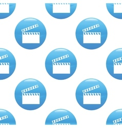 Clapperboard sign pattern vector