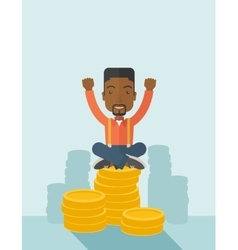 Proud african american businessman vector