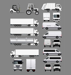 Set of transportation vehicles 2 vector