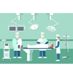 Surgeons in operation theater medical vector