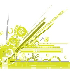 Abstract green machine background vector