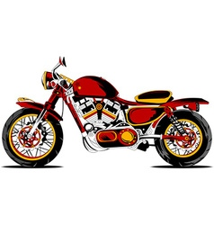 Retro redmotorcycle vector