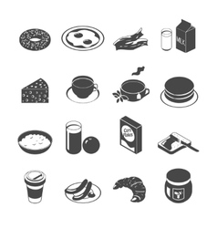 Breakfast icon set vector