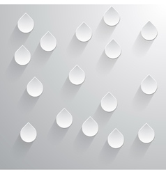 Abstract 3d drops on a gray background vector