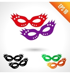 Party masquerade masks vector