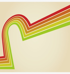 Line retro vector image