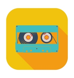 Audiocassette single icon vector image