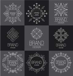 BRAND DESIGN ELEMENT FOR BUSINESS vector image
