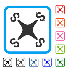 business drone framed icon vector image vector image