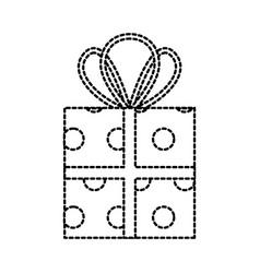 christmas gift box wrapped ribbon celebration vector image vector image