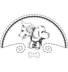 Dog shop logo vector