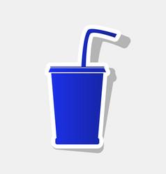 Drink sign new year bluish vector