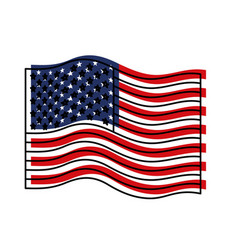 flag united states of america wave colorful vector image