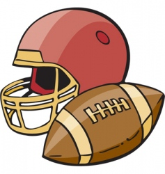 football vector image