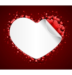 heart label vector image vector image