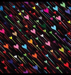 Heart love seamless rain weather background vector