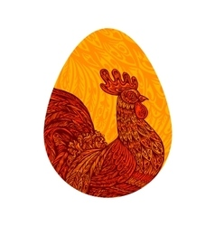 Hen egg chicken cock or rooster vector
