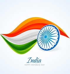Indian flag abstract design vector