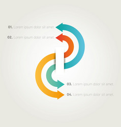 Infographics presentation arrows template vector