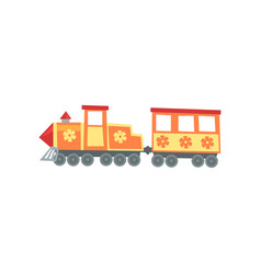 Mini train locomotive from funfair carnival vector