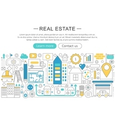 Modern line flat design real estate vector
