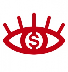 money eye vector image