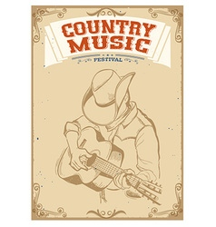 Musician playing guitarCountry music festival vector image