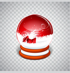 Realistic snow globe ball vector