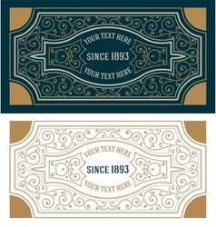 Retro Card Template vector image vector image