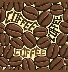 Seamless pattern coffee beans vector