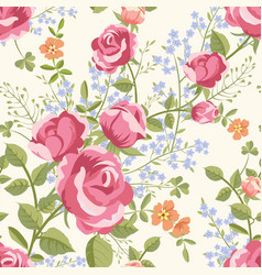 seamless pattern with bouquets of flowers vector image