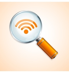 search wifi concept vector image vector image
