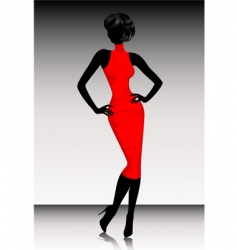 silhouette dress vector image