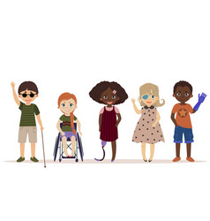 Special needs children children with disabilities vector