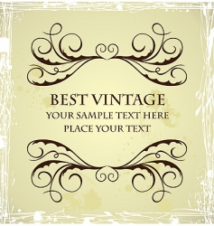 vintage grunge template vector image vector image