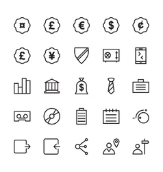 Web and User Interface Outline Icons 9 vector image vector image