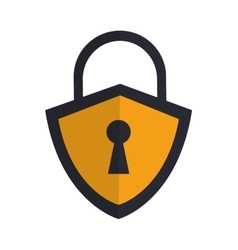 Safety lock shield icon vector