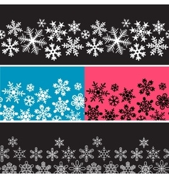 snowflake banners vector image