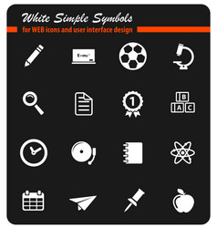 School simply icons vector