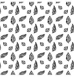 leaf brush seamless pattern vector image