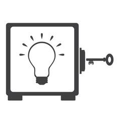 Idea bulb in the safe vector