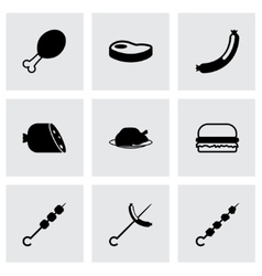 Meat icon set vector