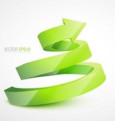 3d arrow vector image vector image