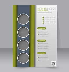 Flyer template business brochure editable a4 vector