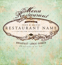 Vintage restaurant sign vector