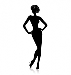 Sexy silhouette vector
