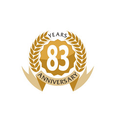 83 years ribbon anniversary vector image