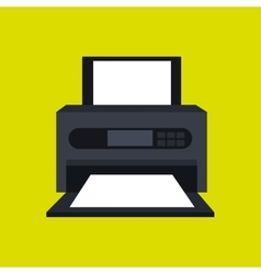 Printer office design vector
